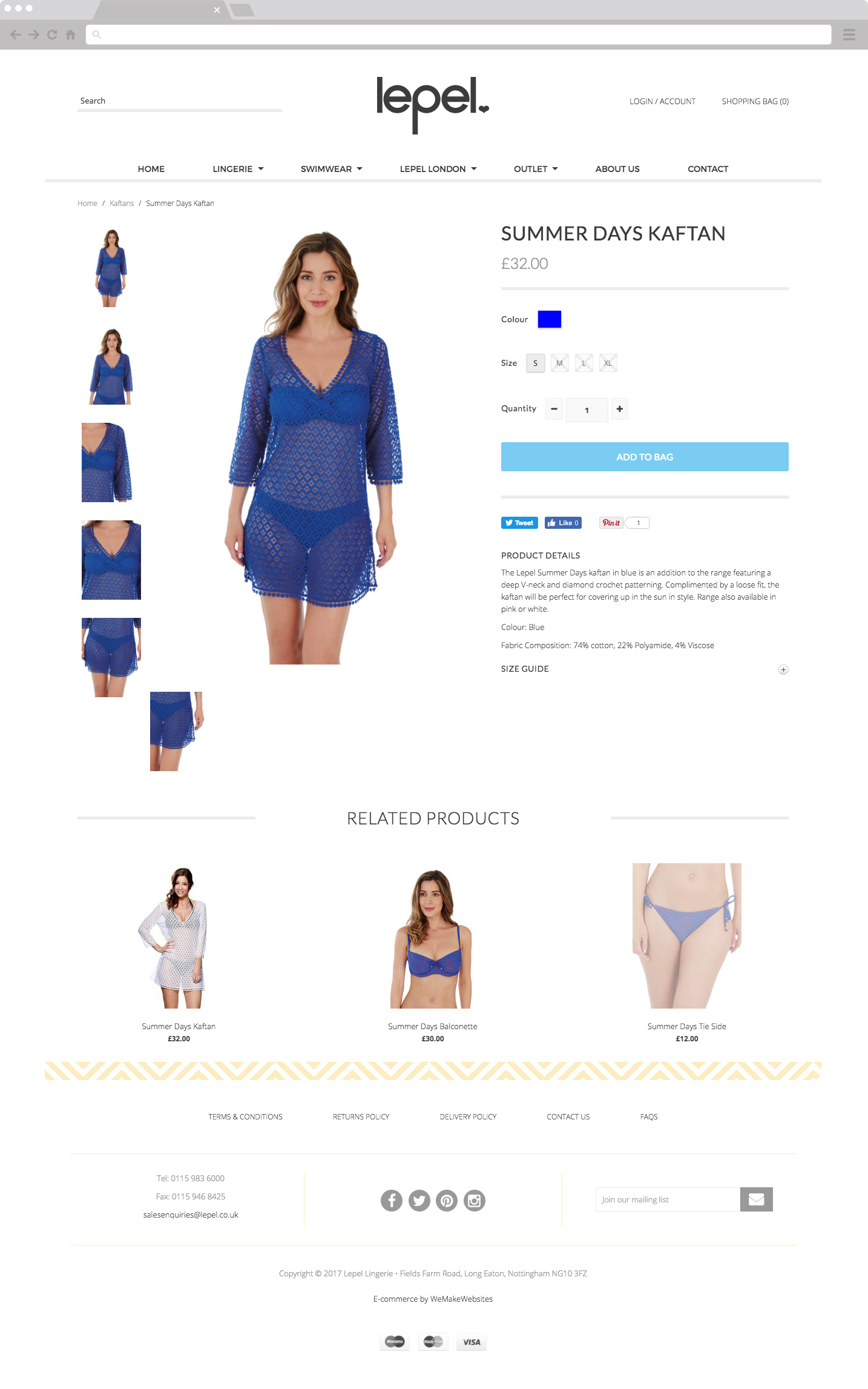 Lepel Product Page