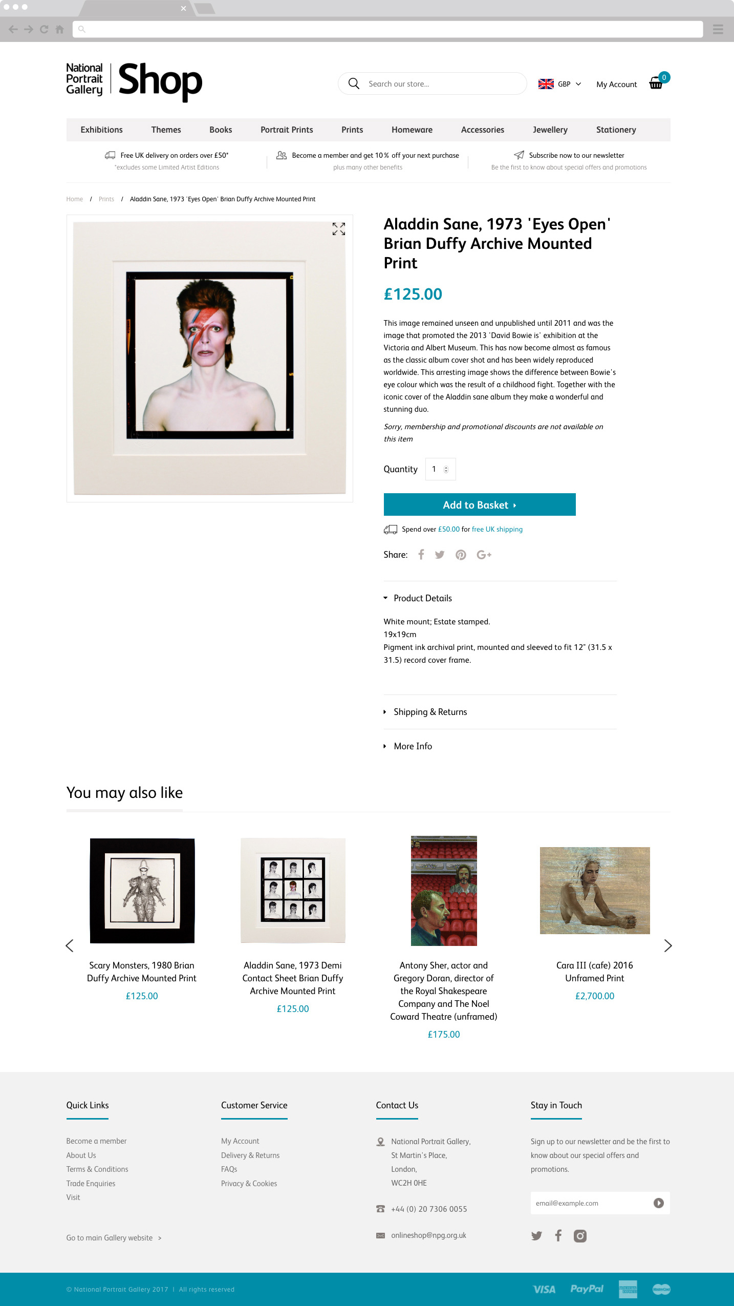 National Portrait Gallery Shop Product PAge